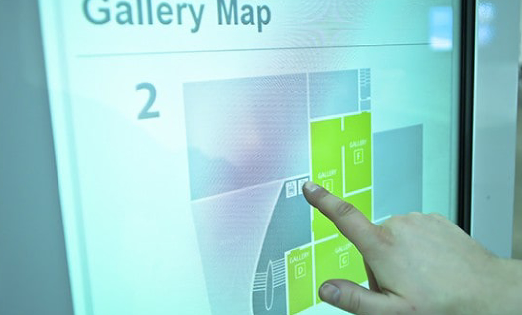 Digital Wayfinding Art Gallery of Alberta
