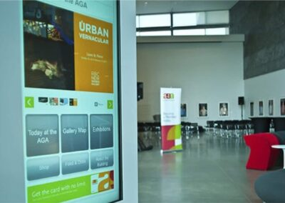 Digital Wayfinding Art Gallery of Alberta