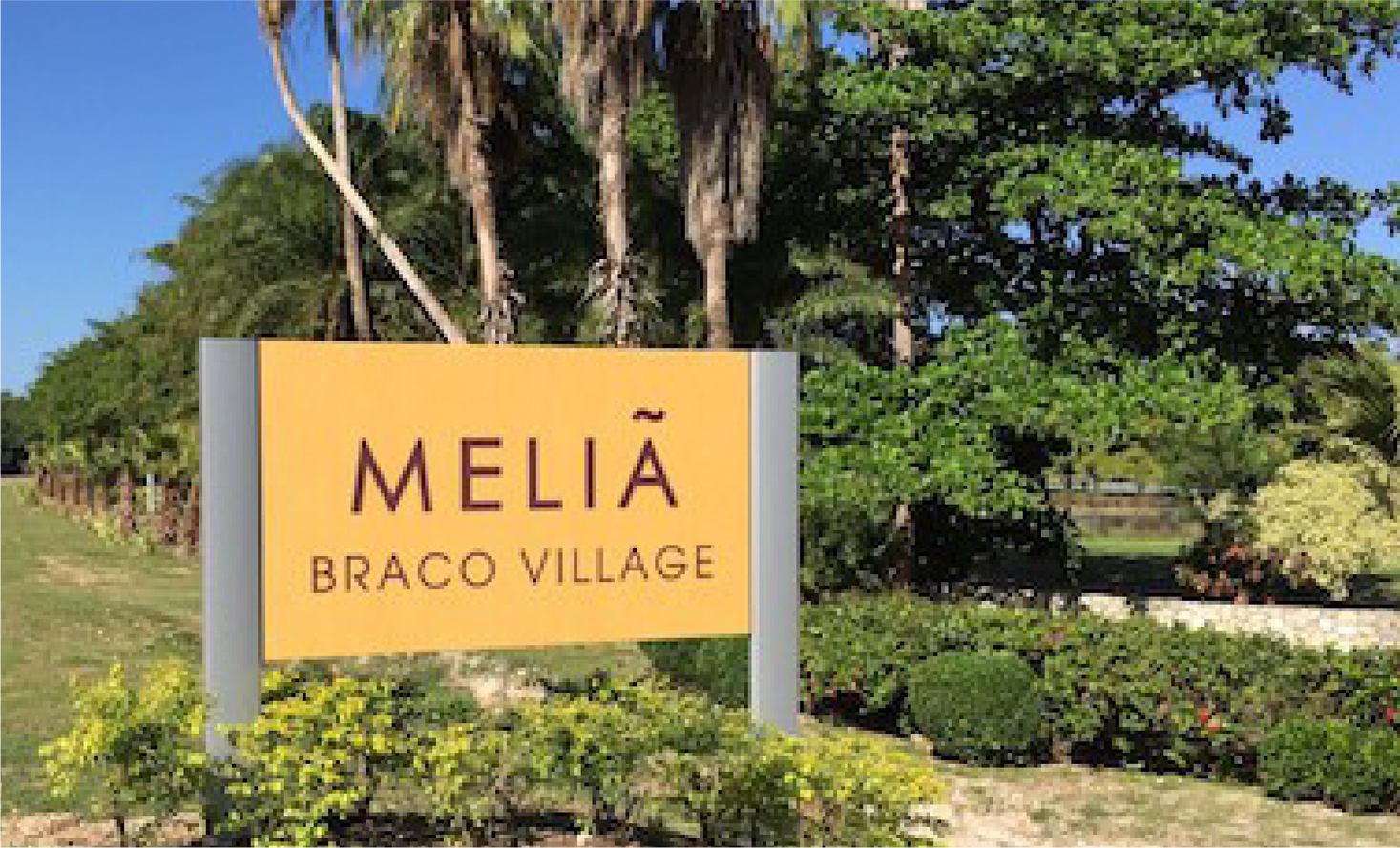 Melia Braco Village Modulex Sign