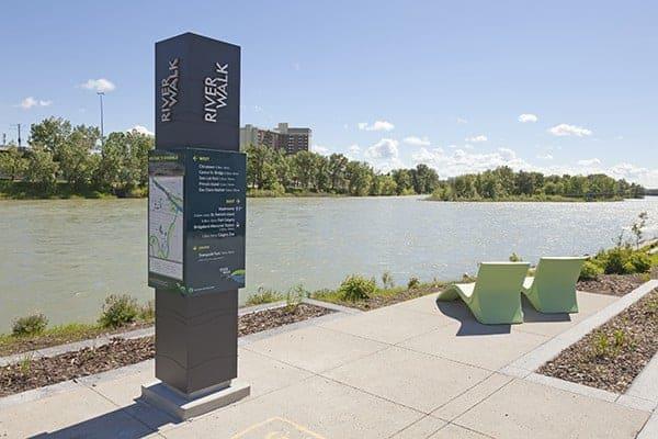 Calgary River Walk Exterior Signage