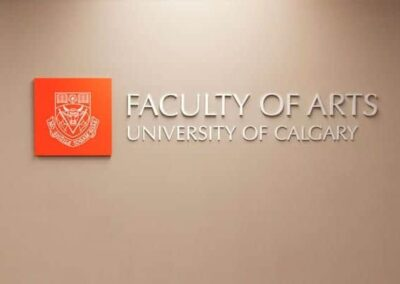 Dimensional Lettering University of Calgary