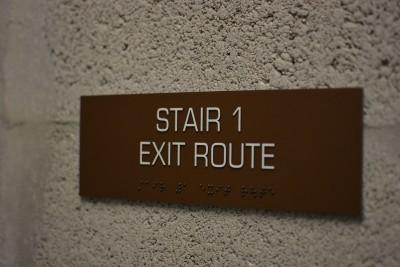 Panorama Tower Stair Signage Modulex