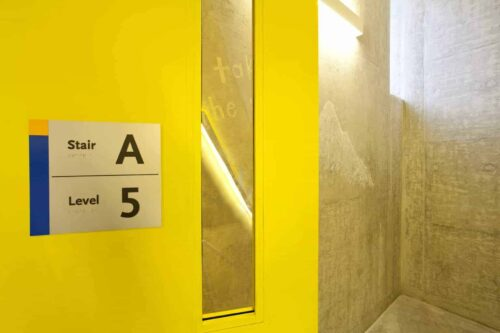 Ryerson-Student-Learning-Centre-interior-stairwell-signage