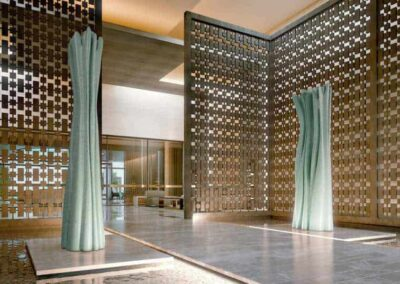Fendi Chateau Residences Interior Lattice Modulex Signage