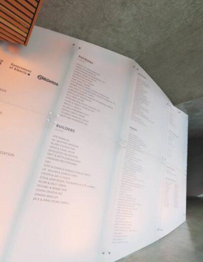 Art Gallery of Alberta Donor Wall Modulex