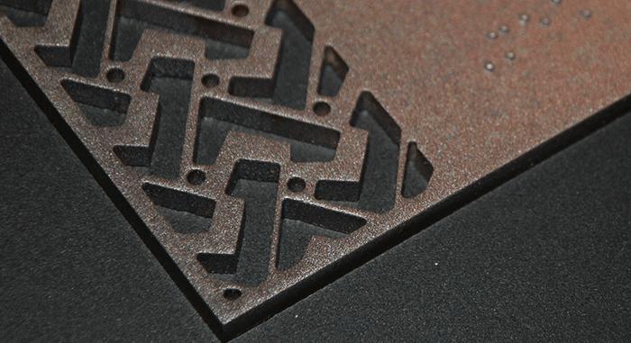 Customised metallic finishes created through print