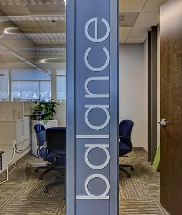 Vertical Interior Design Signage
