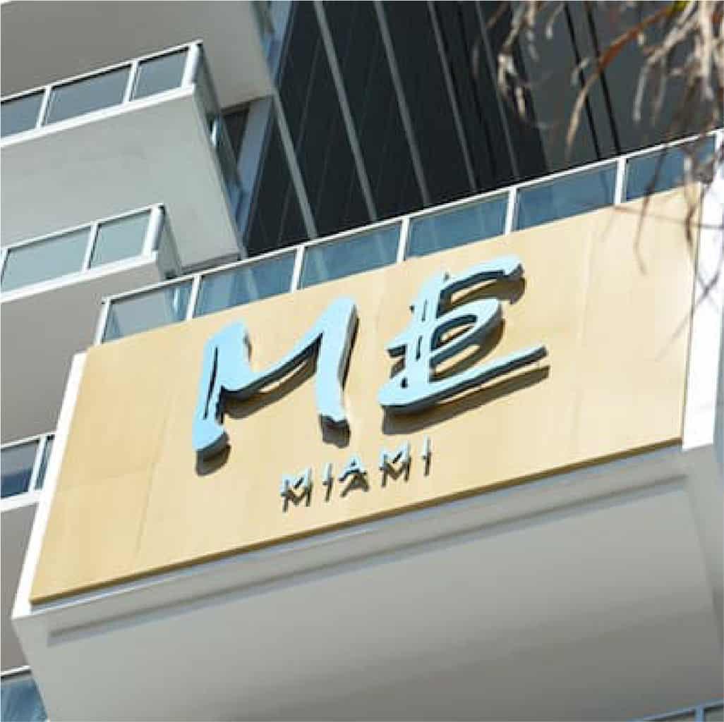 ME Miami exterior sign