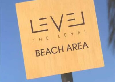 VIP Lounge Exterior Beach Signage