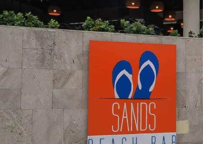 Sands Beach Bar Signage