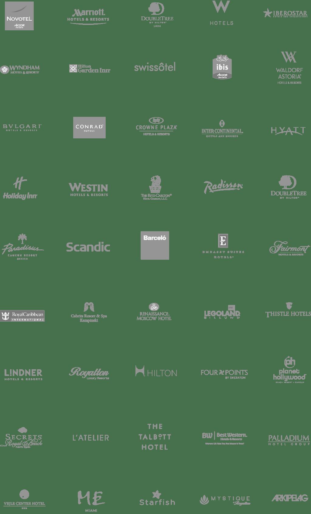 Hospitality Logos Clients