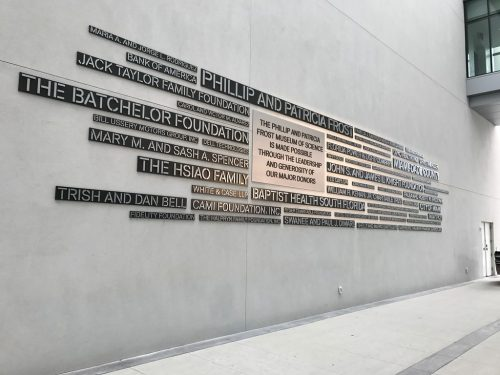 Letters on a wall