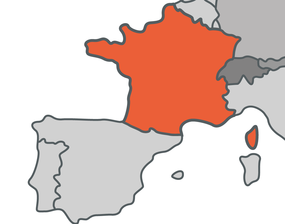 France Local Office Map
