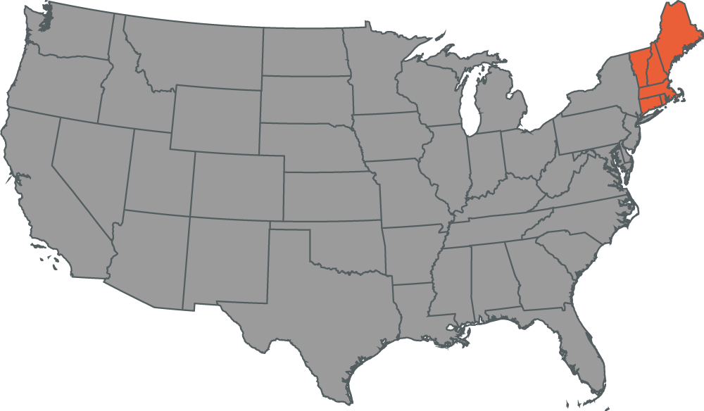 New England Local Office Map
