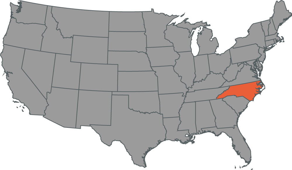 Noeth Carolina Local Office Map
