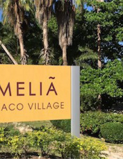 Melia Braco Village entrance Sign