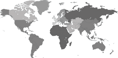 Grey scale world map