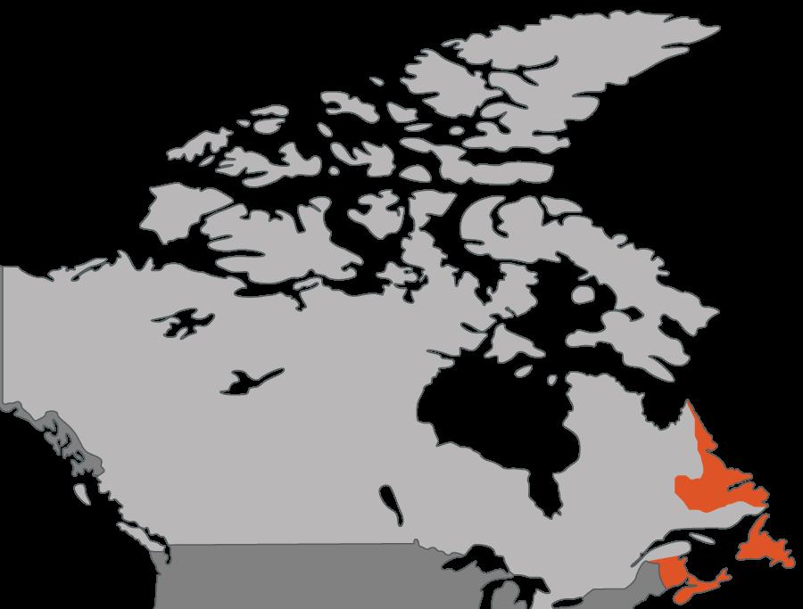 Atlantic Canada Map Contact