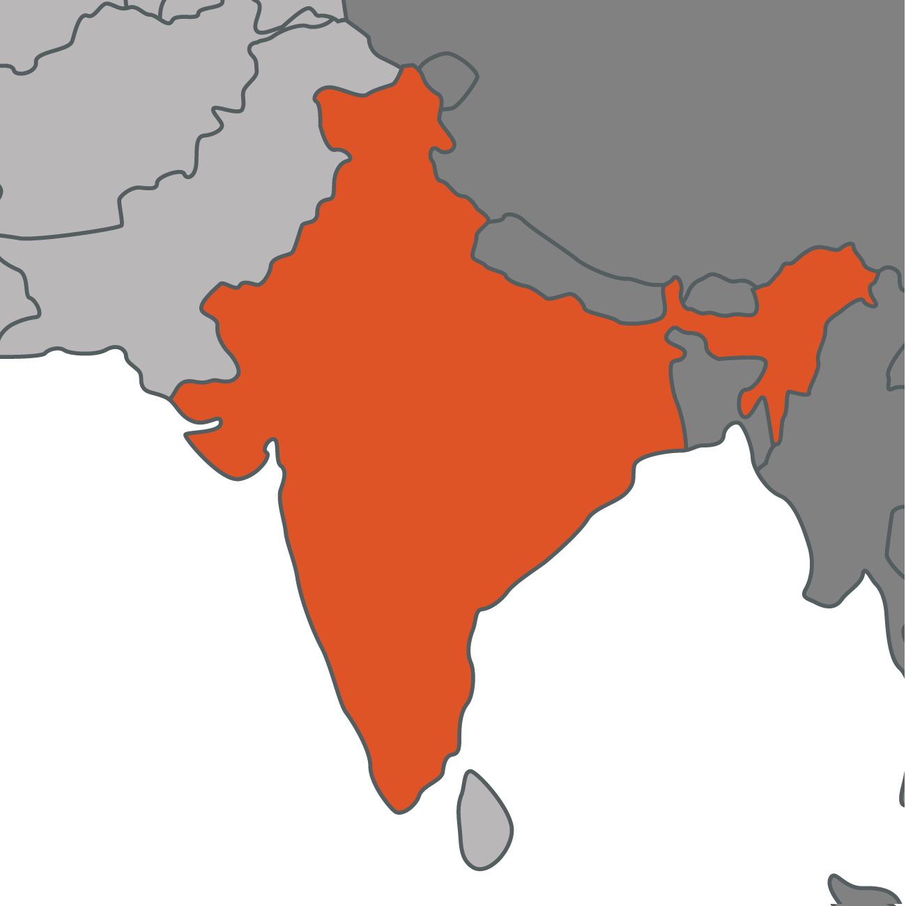 India Map contact page